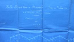 Plan En Diazographie De Construction D'un Atelier - Usine Menot Frères Et Deneuville Sise à Crépy En Valois - Architecture