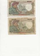 LOT DE  BILLETS JACQUES COEUR  - C-24-4-1941C - C15-5-1941C-  AB- - 1871-1952 Frühe Francs Des 20. Jh.