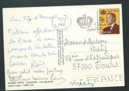 """Carte Postale """" Chaouen - Vue Générale - Affranchie Pour La France Oblitéré Tetouan En 1986 - Gao47 - Marruecos (1956-...)"""