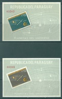 PARAGUAY - MNH/** - 1962  - SOLAR SYSTEM -  Mi 2 BLOCK 32-33 - Lot 19068 PERF AND IMPERFORATED - Paraguay