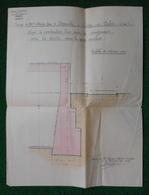 Plan Sur Papier Fort - Construction D'un Mur De Soutènement - Usine Menot Frères Et Deneuville à Crépy En Valois - Architecture