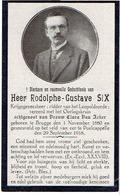 BRUGGE / POELKAPELLE - Rodolphe SIX - Krijgsgeneesheer - Gesneuveld 1918 - 1914-18