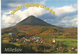Milešovka,837 M The Highest Mountain Of Central Bohemian Highlands,  Uncirculated Postcard - República Checa
