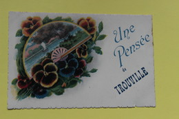 CPA  14 TROUVILLE SUR MER  UNE PENSEE DE TROUVILLE - Trouville