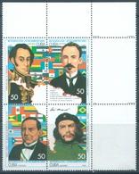 CUBA - MNH/** - 1993 - BOLIVAR CHE GEVARA  - Yv 3325-3328 Mi 3707-3710 - Lot 19071 - Cuba