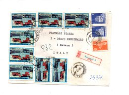 LAB572 - ROMANIA , Raccomandata Per L'Italia Del 1979 - 1948-.... Républiques