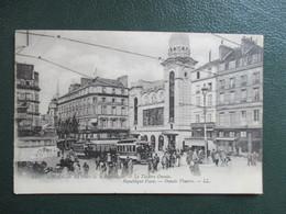 CPA 76  ROUEN PLACE DE LA REPUBLIQUE LE THEATRE TRAMWAYS ANIMEE - Rouen