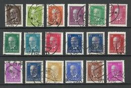 Estland Estonia 1936-1940 Präsident Päts Complete Set O - Estonie
