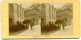 Photos Stéréoscopiques - Savoie  73 - Gorges De La Balme - Hotel  Belle ( A 23 ) - Photos Stéréoscopiques
