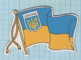 UKRAINE / Flexible Magnet / Coat Of Arms And Flag. Symbolism. - Tourism