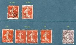 Petit Lot N°  134°  à   136°   Semeuse Fond Plein  Oblitérés - 1906-38 Semeuse Camée