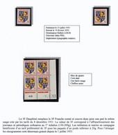FRANCE - Blason / Armoiries Du Dauphiné -  3 F - 1953 - Neuf, NON DENTELÉ, Coin Daté, Carte Maximum - Unused Stamps
