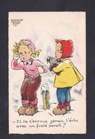 Illustrateur Jacqueline Faizant Simon Il Ne S'enroue Jamais L' Echo Avec Un Froid Pareil ?(enfant Montagne Chien Neige ) - Faizant