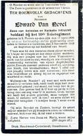 ST. PIETERS OP DEN DIJK / GRENELLE GARENNES / BRUEIL - Edward VAN NEVEL - Soldaat 10de Linieregiment - Gesneuveld 1918 - 1914-18