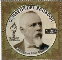 Lote EC106, Ecuador, 2012, Sello, Stamp, 3 V, Trilogia Libertaria, Eloy Alfaro, Carlos Concha, Luis Vargas, Libertarian - Ecuador