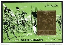 OMAN // BLOC NAPOLEON // TIMBRE  DENTELE // OR / GOLD - Oman