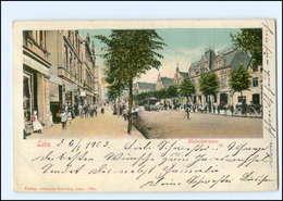XX004516/ Bremerhaven Lehe Hafenstraße Pferdebahn AK 1902 - Deutschland