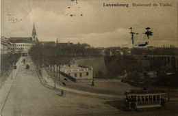 Luxembourg // Blvd. De Viaduc With Tram 19?? Ink Stains! - Luxemburg - Stad