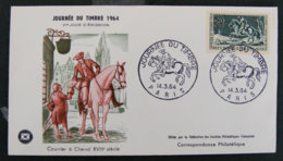 FRANCE - 1964 - FDC 1406 - JOURNEE DU TIMBRE 1964 - 1960-1969
