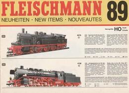 FLEISCHMANN 89, NEUHEITEN, NEW ITEMS, NOUVEAUTES, Brochure HO , N - Scala HO
