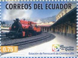 Lote EC107, Ecuador, 2011, Sello, Stamp, Quito, Estacion De Ferracarril De Chimbacalle, Train Station - Ecuador