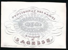 SAGESSE CARTE PORCELAINE 10X7CM - PENSIONNAT DES DAMES DE MARIE TEMOIGNA DE SAGESSE - Mont-de-l'Enclus