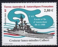 TAAF 2019 Colbert Missile Cruiser Ship 1v MNH - Bateaux