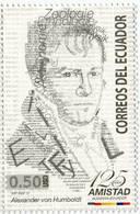 Lote EC108, Ecuador, 2012, Sello, Stamp, Alexander Von Humboldt - Equateur