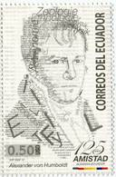 Lote EC108, Ecuador, 2012, Sello, Stamp, Alexander Von Humboldt - Ecuador