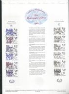 Carnet Personnage De 1985 No 2360a Oblitéré Sur Document Philatélique - Carnets