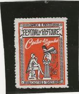 VIGNETTE FESTIVAL D'HISTOIRE - CASTRES 1965 -DIMANCHE DE PENTECOTE - Commemorative Labels