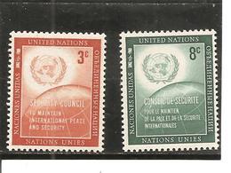 Naciones Unidas  Yvert  52-53 (MNH/**) - New York -  VN Hauptquartier