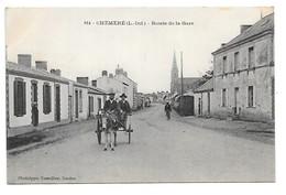 Cpa....Chéméré.....(L.-Inf. )......route De La Gare......animée...attelage ....1908.... - Non Classés