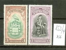 TRINIDAD & TOBAGO - 153/4  Universität Der West-Indies  1951  Kmpl.postfr - Trinidad & Tobago (...-1961)