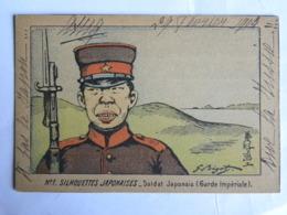 CPA N°1 Silhouettes Japonaises -Soldat Japonais (Garde Impériale) - Illustrateur BIGOT - Militaria - Personnages