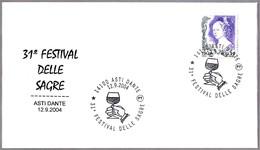 31 FESTIVAL DEL VINO - 31th WINE FESTIVAL. Asti Dante 2004 - Vinos Y Alcoholes
