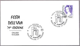 71 FIESTA DE LA UVA - 71th GRAPE FEST. VINO - WINE. Caluso, Torino, 2004 - Vinos Y Alcoholes