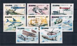 Zaire 1978 Flugzeuge Mi.Nr. 580/87 Kpl. Satz ** - Zaire