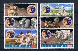 Liberia 1973 Raumfahrt Mi.Nr. 862/67 Kpl. Satz Gest. - Liberia