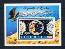 Liberia 1973 Raumfahrt Block 65 Gest. - Liberia