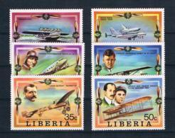 Liberia 1978 Flugzeuge Mi.Nr. 1047/52 Kpl. Satz ** - Liberia