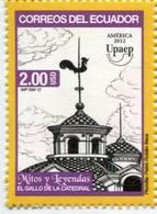 Lote EC109, Ecuador, 2012, Sello, Stamp, Upaep, Mitos Y Leyendas, El Gallo De La Catedral, Myths And Legends - Ecuador