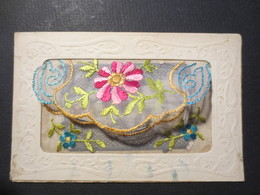 Carte Postale Ancienne Brodée - Pochette Image 1ere Communion  - BE - ( Voir Photos ) - Brodées