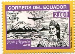 Lote EC110, Ecuador, 2012, Sello, Stamp, Upaep, Mitos Y Leyendas, AYER, Myths And Legends - Ecuador