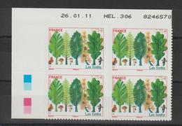 France 2011 Coin Daté Europa Les Forets 564 Neuf ** MNH Avec Double Frappe - Frankreich