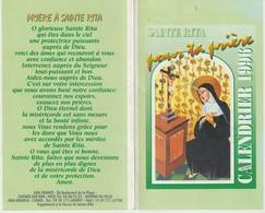 CALENDRIER 1996 - SAINTE RITA POUR TA PRIÈRE - AGA FRANCE - CAGNES SUR MER - - Calendriers
