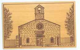 43 -- LE CHAMBON SUR LIGNON - LE TEMPLE (carte Postale En Bois...sarl Bergsson...) - Le Chambon-sur-Lignon