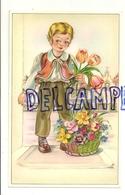 Petit Garçon Qui Vend Des Fleurs - Vieux Papiers