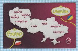 UKRAINE / Flexible Magnet / Football UEFA Europe Championship. EURO 2012 Poland. Polska. Sports Stadiums. - Sport