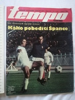 1974 TEMPO YUGOSLAVIA SERBIA SPORT FOOTBALL MAGAZINE NEWSPAPERS BASKETBALL CHAMPIONSHIPS FIGURE SKATING VUJADIN BOSKOV - Deportes